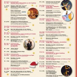 Programm Weihnachtsmarkt Bad Kissingen